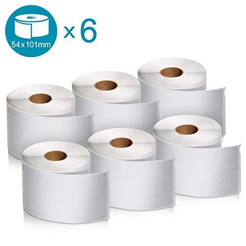 Große Dymo LW-Versandetiketten/-Namensschilder (6Rollen mit je 220Etiketten (1.320Etiketten), selbstklebend, für LabelWriter-Etikettendrucker, authentisches Produkt, 54 mm x 101 mm)