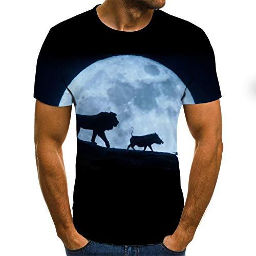 Camiseta Summer 3D Printing Camiseta para Hombre Casual Manga Corta O-Cuello Camiseta para Hombre Fashion Printing 3D Camiseta Top XL Txu-1451
