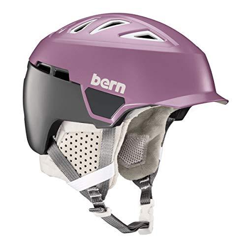 Bern Heist Brim MIPS Casco, Unisex Adulto, Satin Lilac, Small