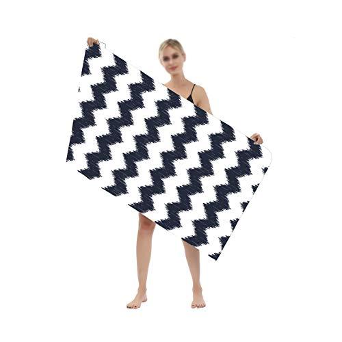 YSPS Toalla de Playa de algodón a Rayas de Moda, 80x160 cm, Suave, Absorbente y Secado rápido, Adecuado para Piscina, Gafas de Sol de Playa y SPA