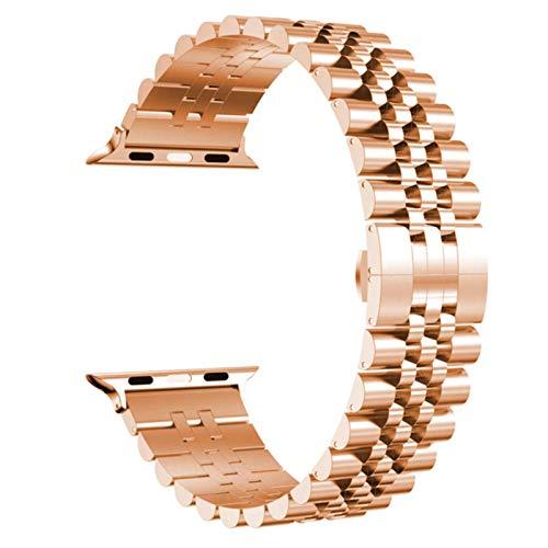 Para Apple Watch Series 6 5 4 Se Band 3 Pulsera de eslabones de acero inoxidable Correa comercial