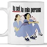 Tazza GREYS ANATOMY Tu sei la mia persona. Gadget mug Grey's You are my person con Meredith Grey e Cristina Yang.