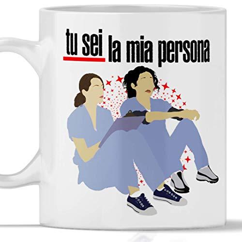 Taza GREYS ANATOMY Tú eres mi persona Gadget Mug Grey's You are my person con Meredith Grey y Cristina Yang.