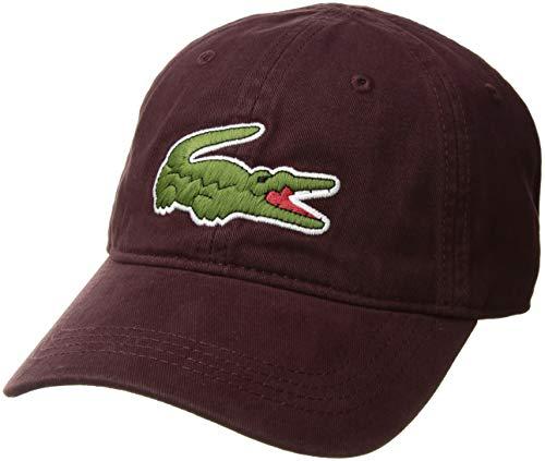 Lacoste Herren Mütze Big Croc Gabardine - Rot - Einheitsgröße