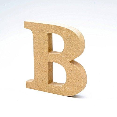 LA LLUNA ALWAYS CREATING Letras de Madera. Letras Grandes de Madera DM de 20cm de Alto para decoración y Manualidades. Disponible el Alfabeto Completo (B)
