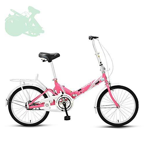 lqgpsx Klappbares Erwachsenenrad, 20-Zoll-Schnellklapprad mit verstellbarem Lenker und Sitz, stoßdämpfende Feder, arbeitssparende große Kurbelgarnitur, 7 Farben