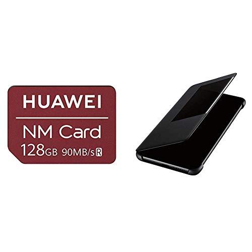 Huawei Nanomemory Speicherkarte 128G für Mate20/Pro &  51992621 Smart Flip View Cover, passend für Mate 20, Black