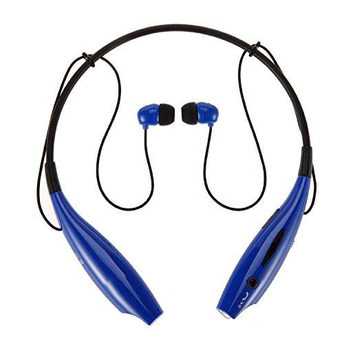 b2c2b03ad8d Best MagicShield HV-800 Wireless Bluetooth Music Stereo Universal Headset  Headphone Vibration Neckband Style for iPhone iPad Samsung Blue