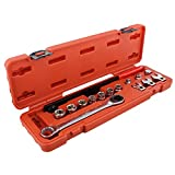 ABN Serpentine Belt Tool Set 15pc - Automotive Fan Belt Tensioner Pulley Tool Ratcheting Wrench Drive for Mechanics