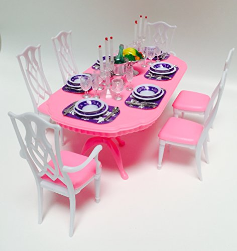 My Fancy Life Dollhouse Furniture - Dining Room Play Set