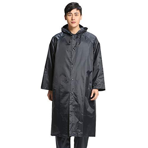 Ensemble imperméable pour hommes Poncho réutilisable imperméable de pluie imperméable avec les capuchons et les manches Poids léger respectueux de l'environnement et parfait pour les activités en plei