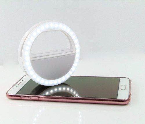Luz De Selfie Flash Para Celular Portatil Clipe Anel Branco (60413/888600)