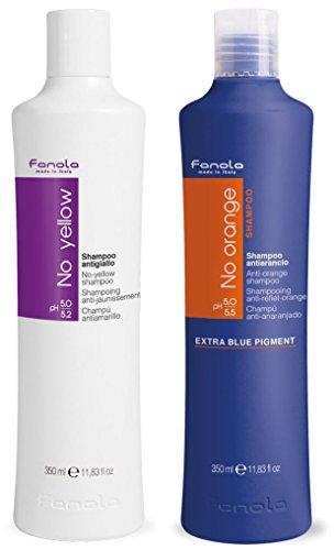 Fanola No Yellow and No Orange Shampoo Package, 350 ml