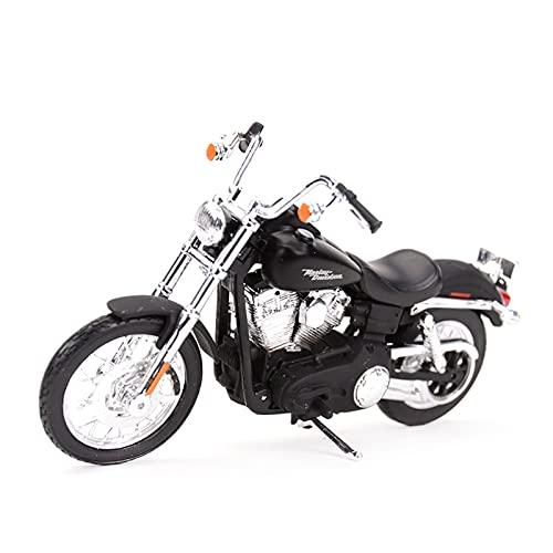 MHDTN El Maquetas Coche Motocross Fantastico 1︰18 para 2006 FXDBI Dyna Street Bob Deportivo Estático Colección De Motocicletas Hobby Niño Niña Regalo Expresión De Amor