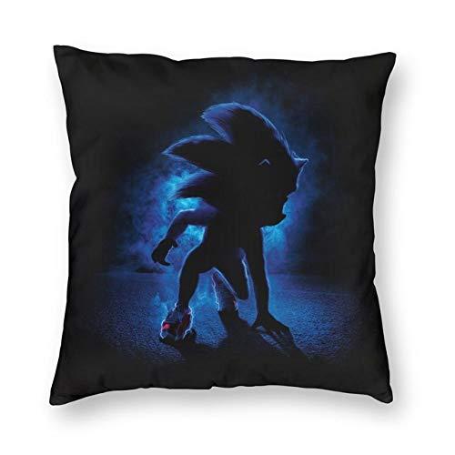 FENGHU Schallkissen Sonic Pattern Throw Pillow Covers Quadratische Kissenbezug Dekoratives Schlafzimmer Wohnzimmer Sofa Mit Reißverschluss