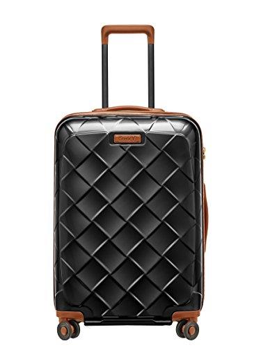 [ストラティック] スーツケース ジッパー レザー&モア グッドデザイン賞 静音双輪キャスター 保証付 65L 66 cm 3.43kg ブラック