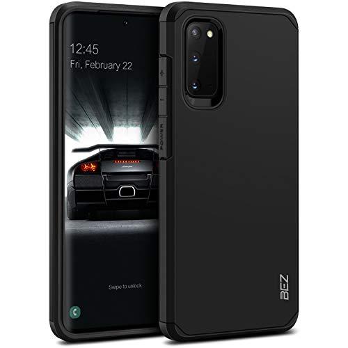 BEZ Cover Samsung S20, Custodia per Samsung Galaxy S20 Rigida Protettiva con Impact [Antiurto, Assorbimento-Urto] Bumper Protezione da Cadute e Urti Posteriore, Nero