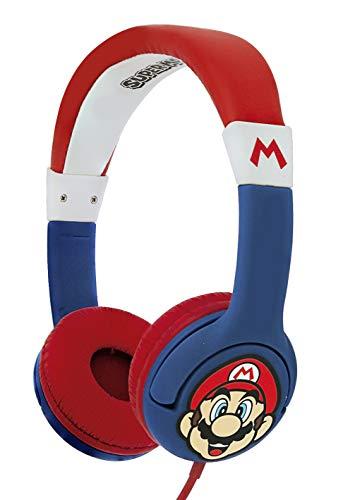 OTL Technologies Super Mario Junior Auriculares, con Cable, para niños (Producto con Licencia Oficial)