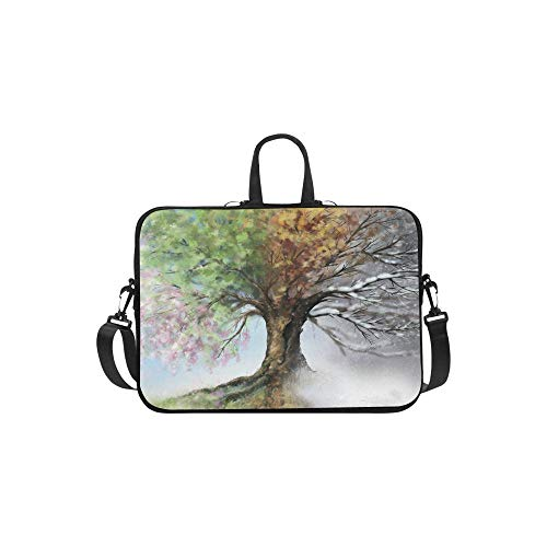 Christmas Halloween Tree of Life Laptop Sleeve Case Bag Tree Art Shoulder Strap Laptop Sleeve Notebook Computer Bag 14 inch