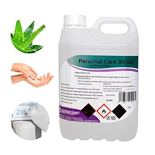 Personal Care Garrafa 5 Litros Gel Hidroalcoholico Para Manos 70% Alcohol Formato Ahorro 5000Ml. 5000 ml