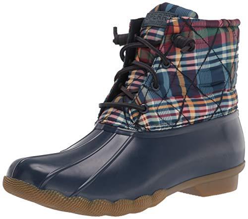 Sperry womens Saltwater Nylon Quilt Rain Boot, Plaid Multi, 5.5 US