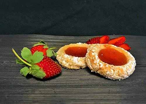 Amaretti Morbidi Erdbeer Gelee - frisch & handwerklich hergestellt - außen knackig und innen weich - Italienisches Mandelgebäck - Marzipangebäck - 500g