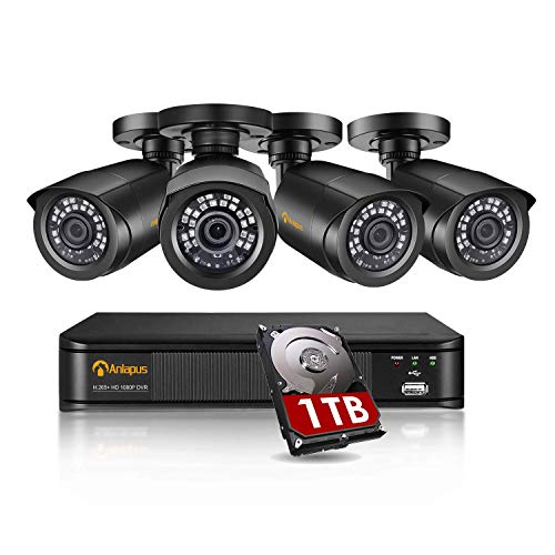 Anlapus H.265+ Système de Sécurité, Full HD 1080P 8CH DVR En