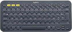 Saisie Clavier Multi-Système : Ce clavier bluetooth Logitech est multisystème ; utilisez-le avec différents dispositifs, tablette, smartphone, PC Style Nomade : Découvrez le design compact et léger de ce clavier Bluetooth, facile à transporter dans t...