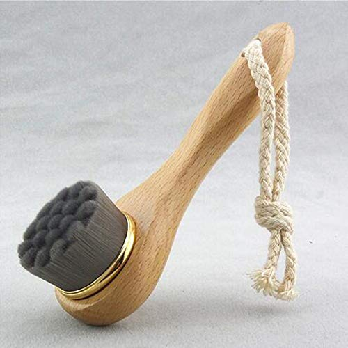 EgBert Mz-S2 Pinceau Pour Le Visage Pores Blackhead Nettoyage En Profondeur Quotidien Ultrafine Soft Care Tools - Noir