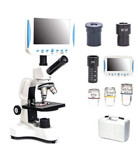 5000 x microscopio monocular especial de alta definición con pantalla LCD, adjuntar microscopio con USB, el semen observadas, ácaros, ciencia, laboratorio, la acuicultura, detector de gotas de sangre
