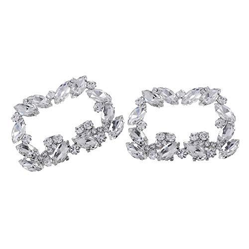 F Fityle Clips Decorativos para Zapatos, joyería, Adornos de Diamantes de imitación,...