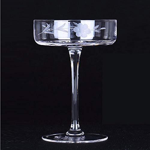 HGTZ Copa de cóctel clásica Plana de Europa sin Plomo Copa de Vino de Cristal Copa de Martini Seca Transversal Copa de Margaret Copa de Vino de Copa