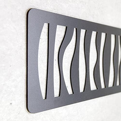 Cabecero Cama Decorativo Económico en PVC - Tipo Forja. Modelo - Africa (150cm x 60cm, Negro)