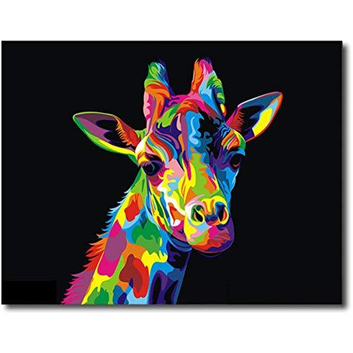 XINRANFF Malen Nach Zahlen Erwachsene/Kinder, DIY Ölgemälde Kits Ohne Rahmen, 16X20 Inch, Giraffe