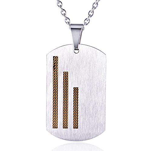 Hombres Y Mujeres Parejas Simple Personalidad Acero Inoxidable Ejército Colgante Collar Etiqueta Oro