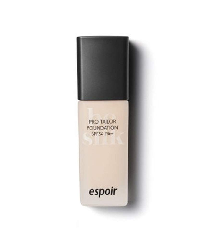 ESPOIR Pro Tailor Foundation Be Silk SPF34 PA++ 30ml #2 Vanilla   Long Lasting Silky-Smooth Makeup with Excellent Cover   Korean Skincare