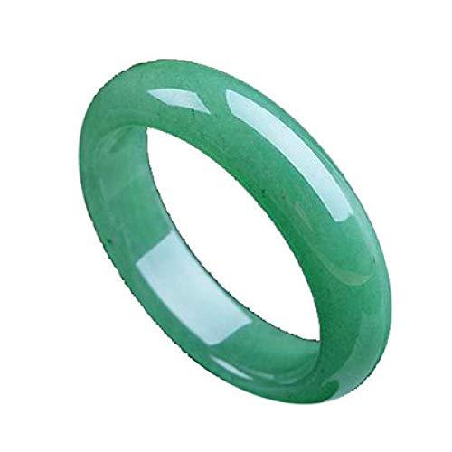 Kunze Pulsera de Jade, energía curativa, Corte a Mano, brazaletes de Piedra de Jade Verde para Mujeres, Regalos de Amuleto de la Suerte