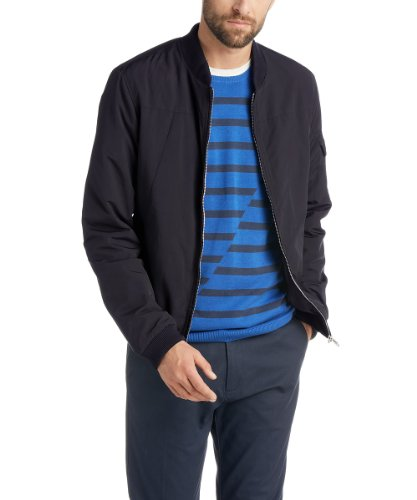 edc by ESPRIT Herren Jacke Slim Fit 014CC2G004, Gr. 44(XS) (XS), Blau (405 Midnight Blue)