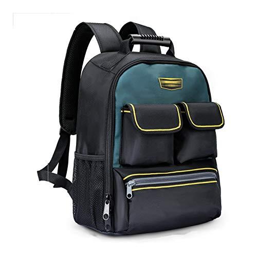 Qiming Portable Tool Bag Mochila portátil Bolsa Multifuncional Herramienta portátil Bolsa de Almacenamiento Bolsa de Herramientas Multiuso Hardware Kit (Color : Black, Size : 31 * 18 * 43cm)
