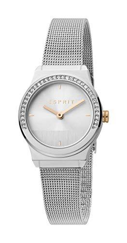 Esprit Edelstahl-Uhr mit Zirkonia-Besatz
