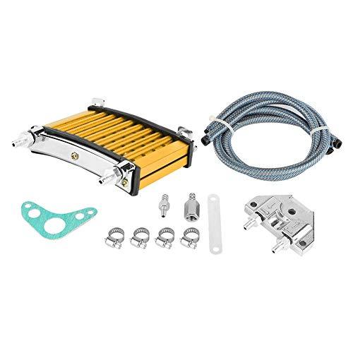 KIMISS Motorolie-koeler kit, goud aluminiumlegering motorfiets motorolie koelset geschikt voor 125cc 140ccm 150ccm