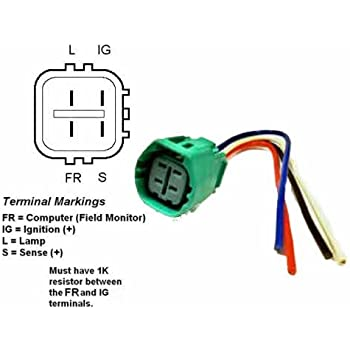 [DHAV_9290]  Amazon.com: ALTERNATOR REGULATOR PLUG PIGTAIL (PLUG CODE 917) - 9801917:  Automotive | Honda 4 Wire Alternator Diagram |  | Amazon.com