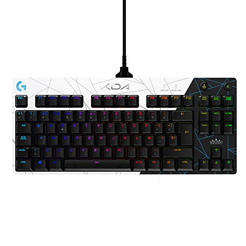 Logitech G PRO K/DA Teclado Gaming Mecánico sin teclado numérico, GX-Táctil...