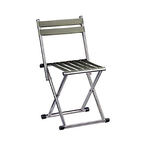 WAYMX Banc en Acier Inoxydable Pliant Banc Banc Adulte de Voyage en Plein air Chaise de pêche Portable Tabouret pesant 230 kg