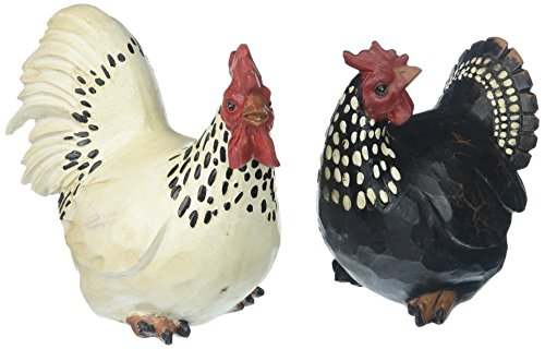 Abbott Collection 27-BW/590 Sitting Rooster & Hen (Set of 2)