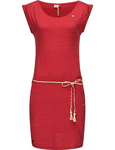 Ragwear Damen Baumwoll Jersey Kleid Tag Rot20 Gr. L