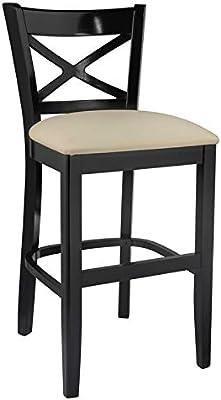 Awe Inspiring Amazon Com Beechwood Mountain Cross Back Counter Stool In Spiritservingveterans Wood Chair Design Ideas Spiritservingveteransorg