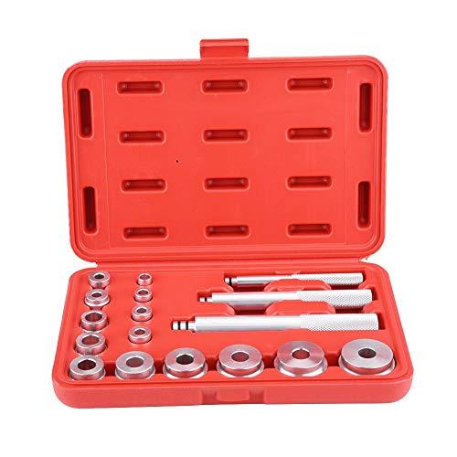 Radlager-Rennsatz, 17-teiliges Aluminium-Radlager-Laufring- und Dichtungsbuchsen-Treiberset Autowerkstatt-Werkzeugsatz mit rotem Gehäuse
