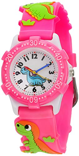 Image of Eleoption Waterproof Kids Watch for Girls Boys Time Machine Analog Watch Toddlers Watch 3D Cute Cartoon Silicone Wristwatch Time Teacher for Little Kids Boys Girls Birthday Gift Toys