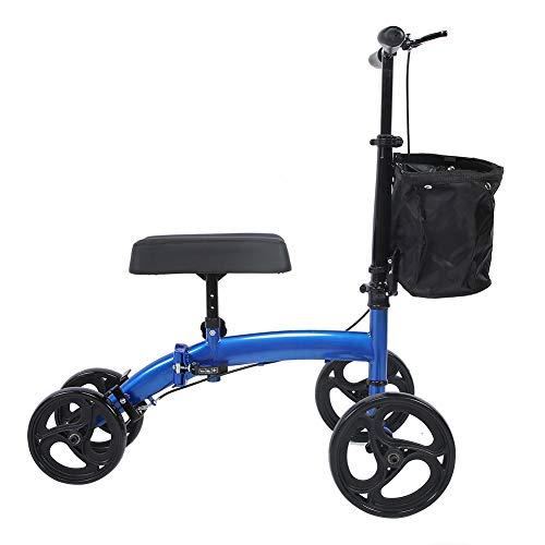 Knie Walker Roller, All Terrain Lenkbarer Knie-Scooter bis 300 lbs Roller mit Verstellbarer Lenker und Korb für Drinnen Oder Draußen